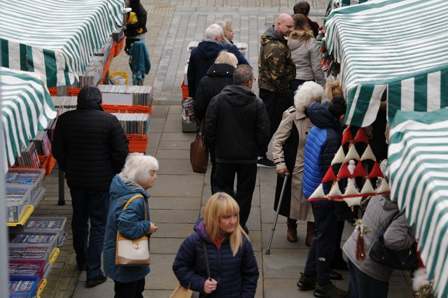 people shopping at South Shields market